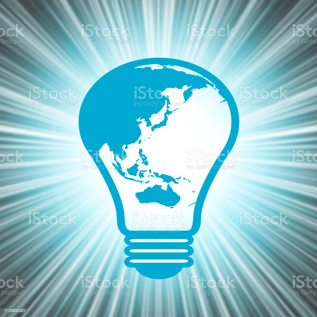 The light bulb which combined with the earth.