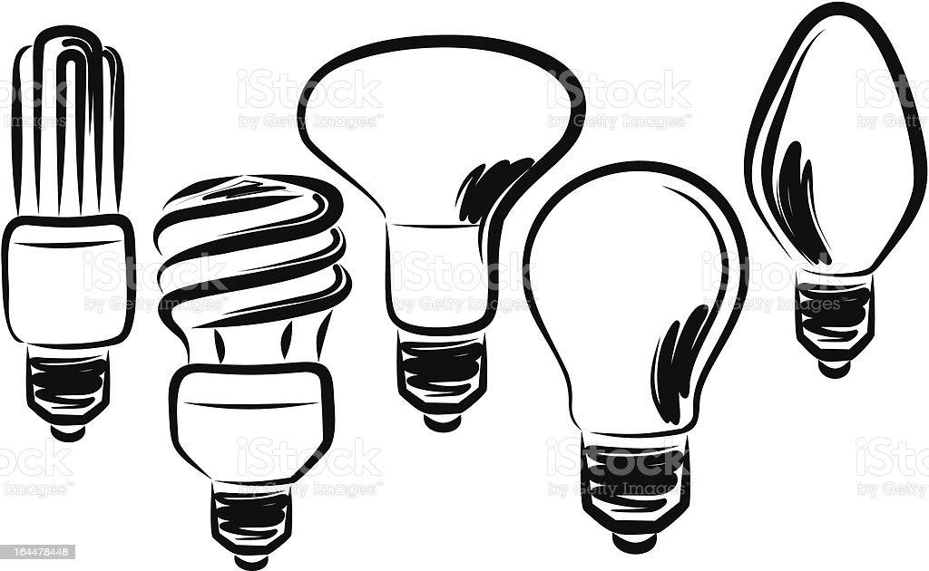 Light bulbs royalty-free stock vector art