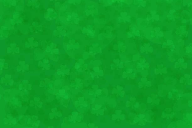 light green clover shamrock background with st patricks day text overlay illustration vector art illustration