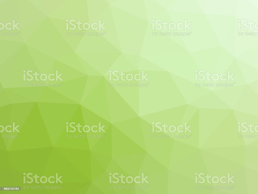 Light green polygon shaped background vector art illustration