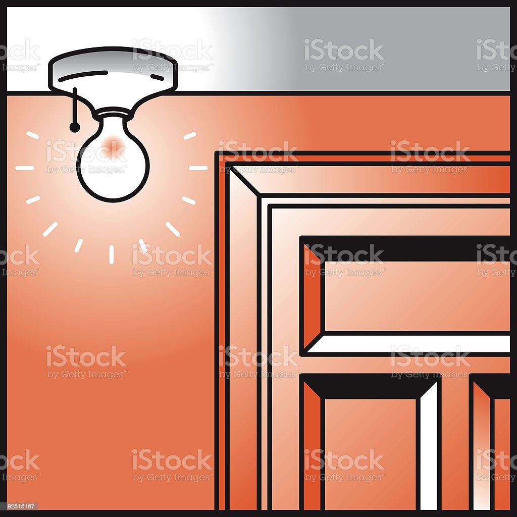 Light in the hall royalty-free stock vector art