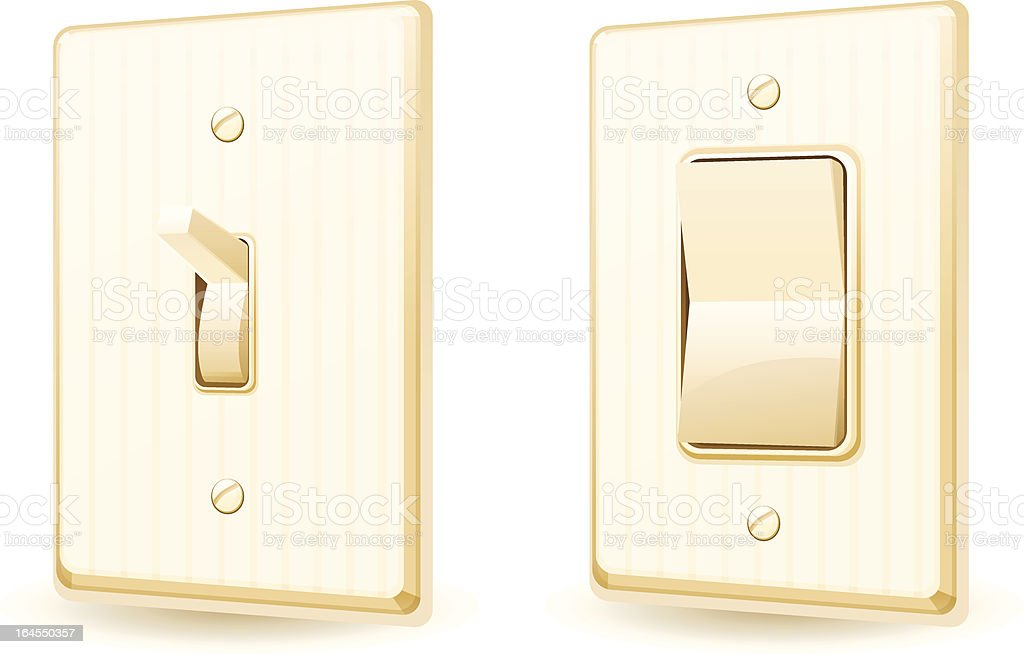 Light Switches royalty-free light switches stock vector art & more images of architectural feature