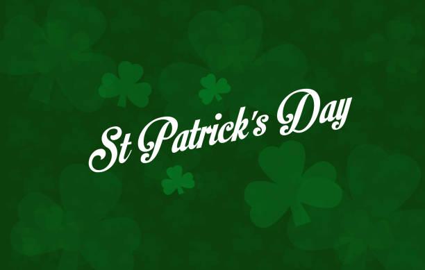 light text overlay St Patricks day saint holiday dark background glover design emerald shamrock green vector art illustration