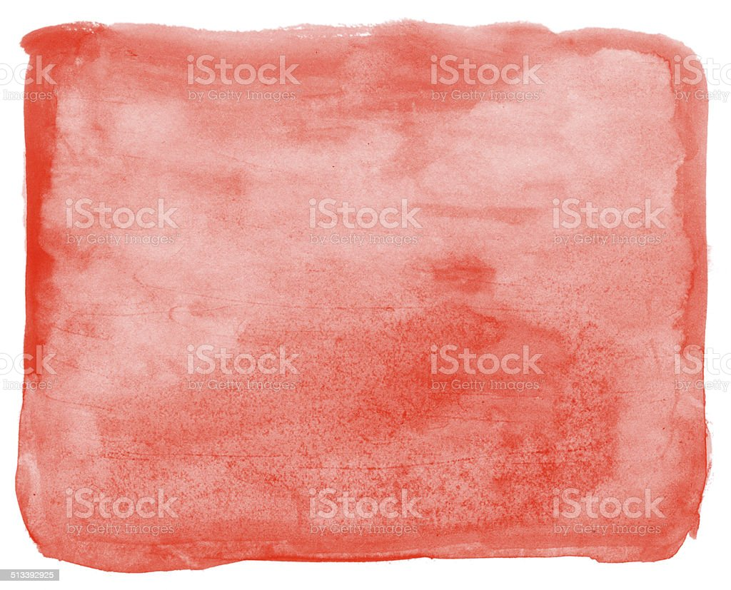 Light vermillion red watercolor background painting vector art illustration
