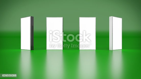 istock Lightbox On Green Background 3D rendering 639559388