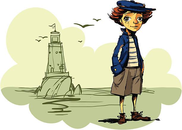 illustrations, cliparts, dessins animés et icônes de garçon de phare - bretagne