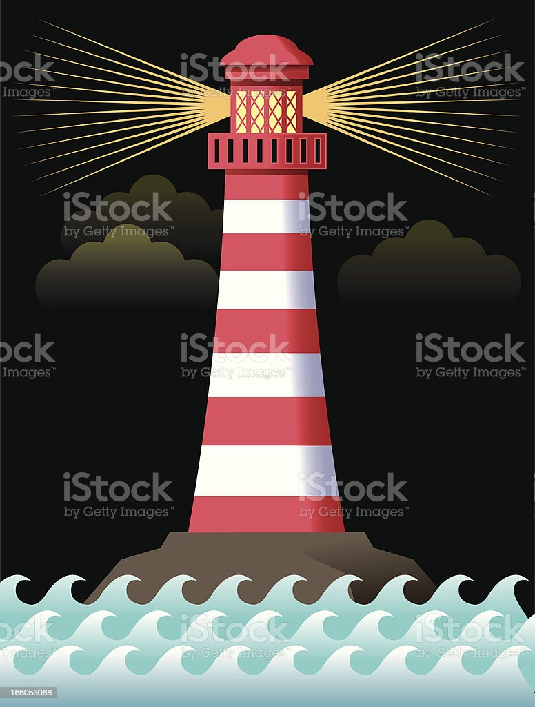 Lighthouse illustration royalty-free stock vector art