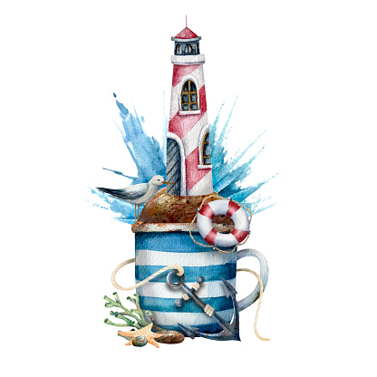 lighthouse in a cup