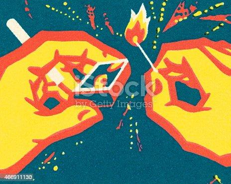 istock Lighting a match 466911130