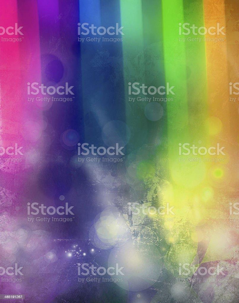 lights on abstract rainbow texture vector art illustration