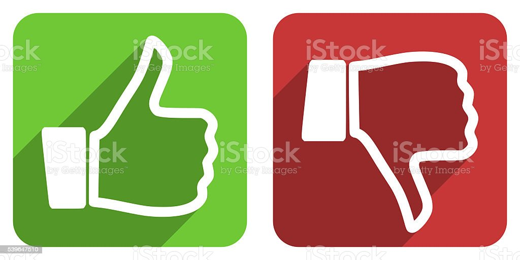 like dislike icons set vector art illustration