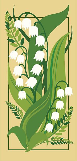 Lily of the valley Lily of the valley lily of the valley stock illustrations