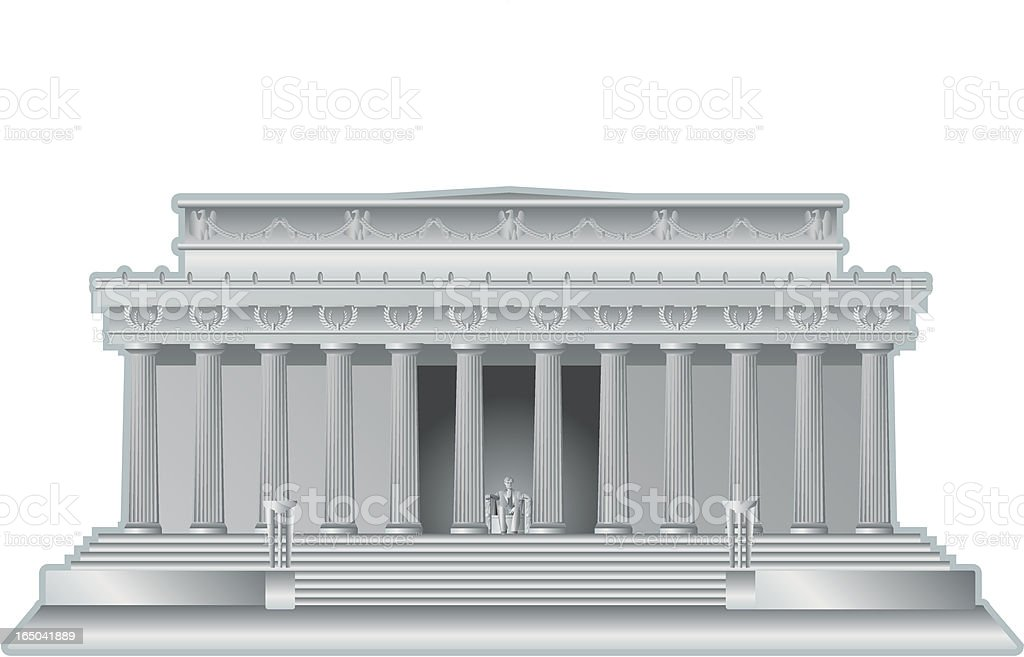 lincoln memorial royalty-free stock vector art