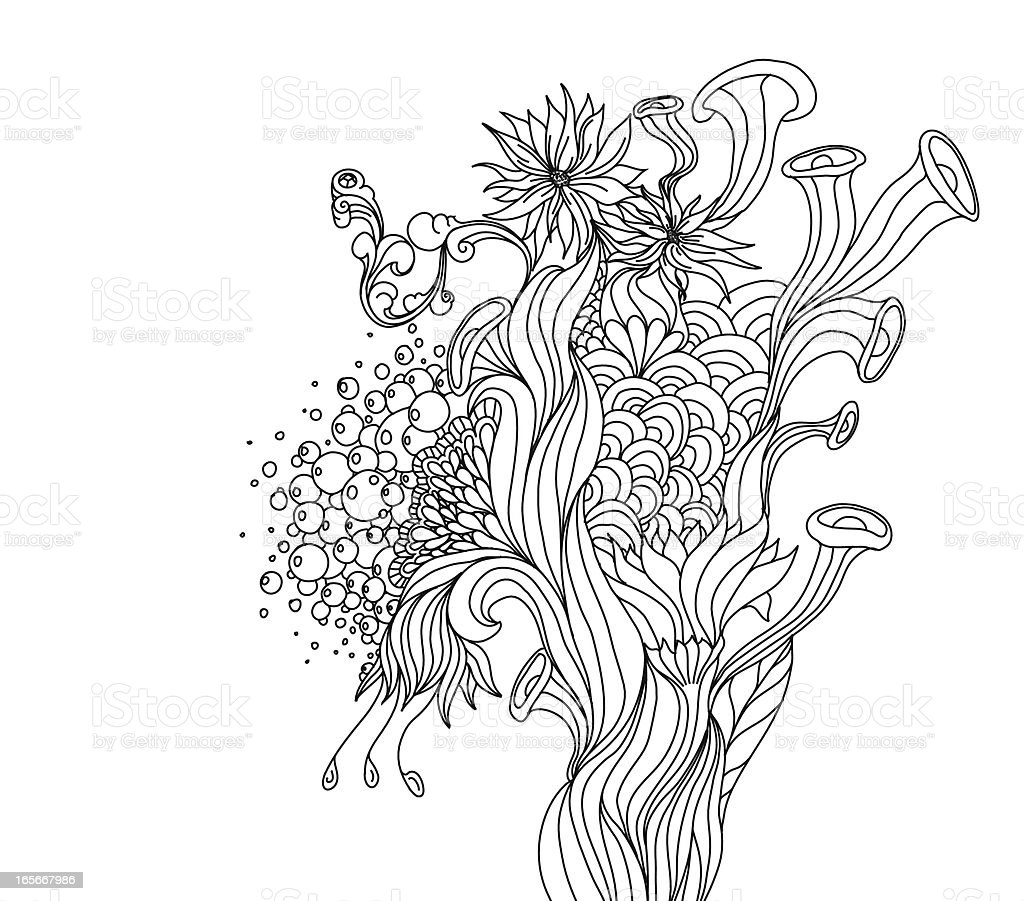 Line Art Design royalty-free stock vector art