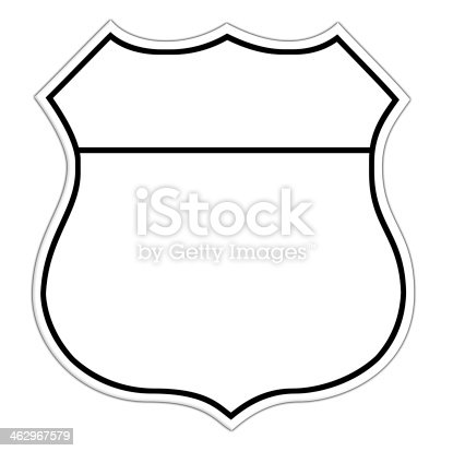 Line Drawing Of A Blank Route Sign Stock Vector Art & More