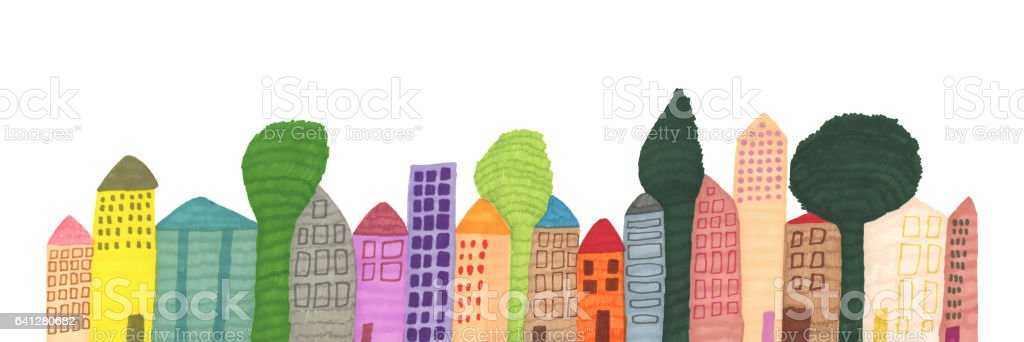 Line of buildings royalty-free line of buildings stock vector art & more images of architecture