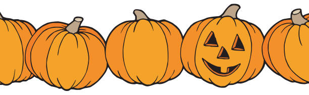 515 Pumpkins In A Row Illustrations, Royalty-Free Vector Graphics & Clip  Art - iStock