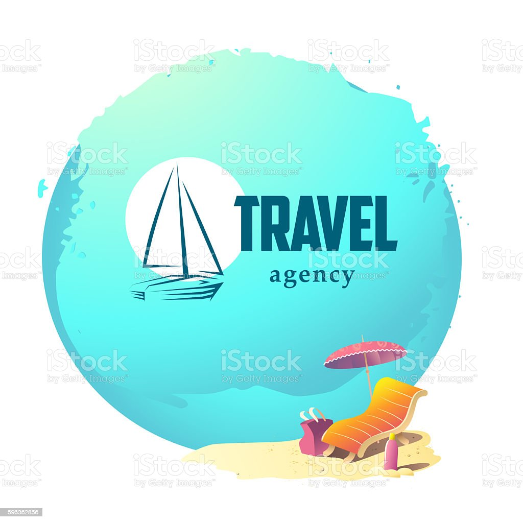 Linear logo for travel agency isolated royalty-free linear logo for travel agency isolated stock vector art & more images of bag