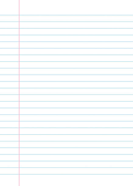 lined paper from a notebook - lined paper stock illustrations