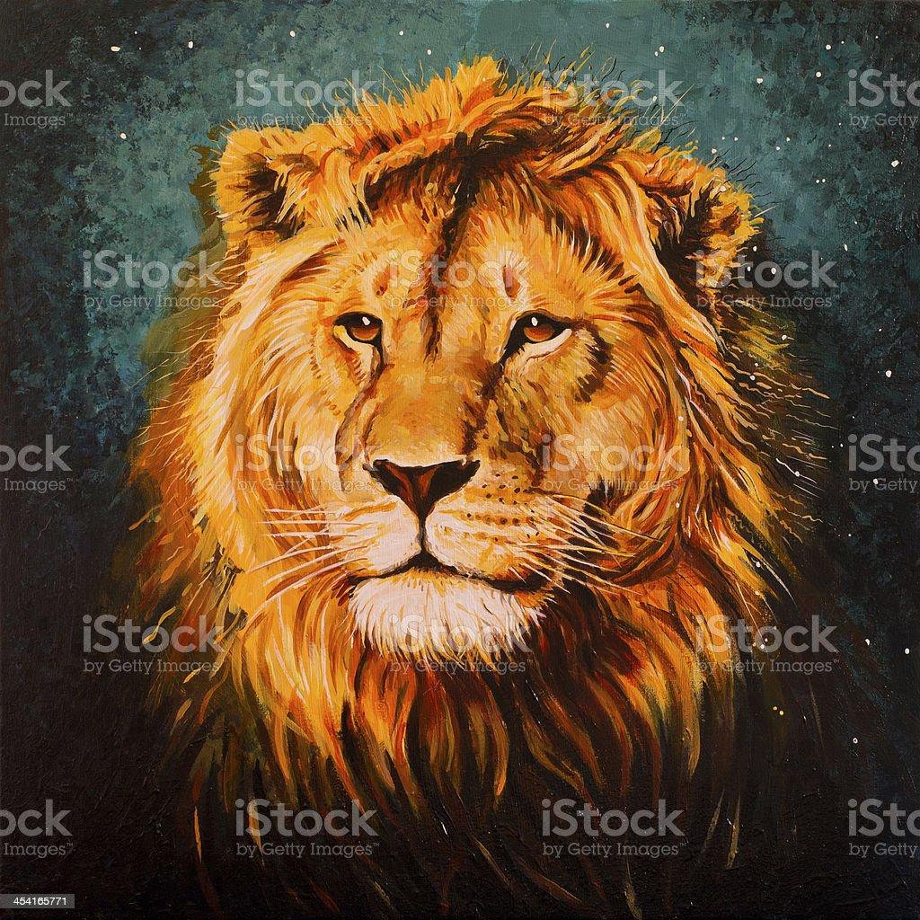 lion Aslan vector art illustration