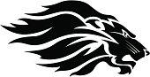 istock Lion head mascot B&W 165685280