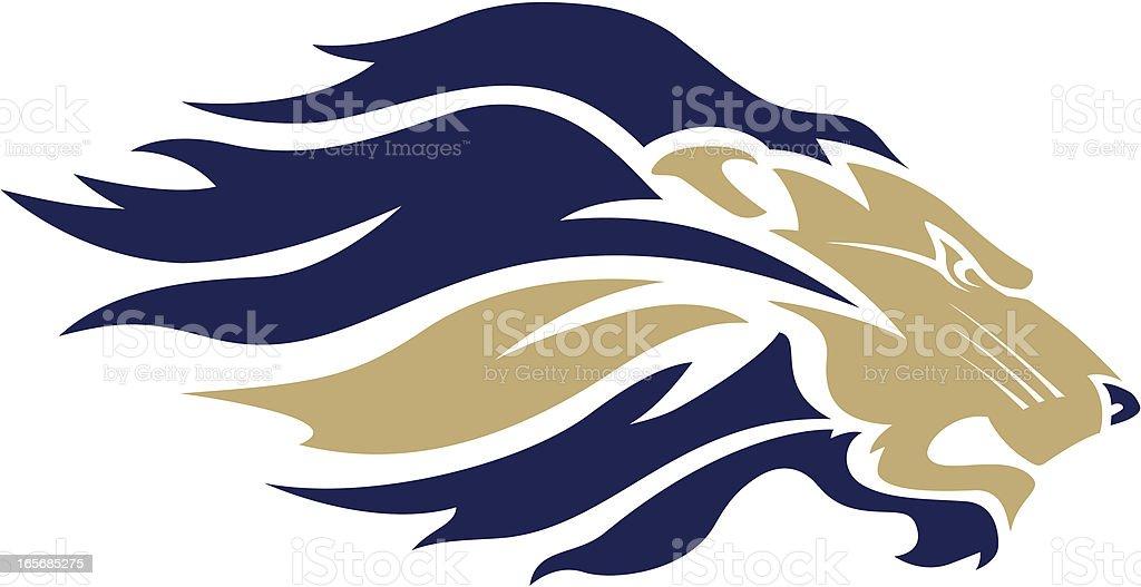 Lion head mascot vector art illustration