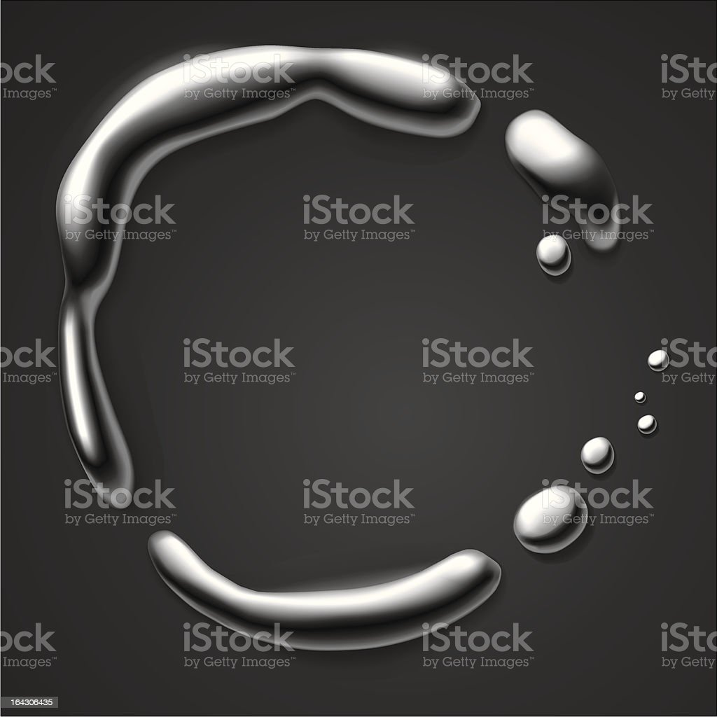 Liquid metal border royalty-free liquid metal border stock vector art & more images of abstract