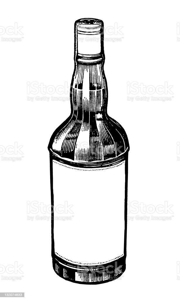 Liquor bottle stock vector art more images of alcohol for Liquor bottle art