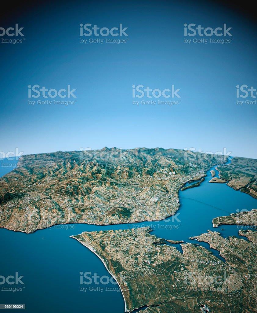 mapa de lisboa 3d Lisbon 3d View Vertical Southnorth Natural Color   Arte vetorial  mapa de lisboa 3d