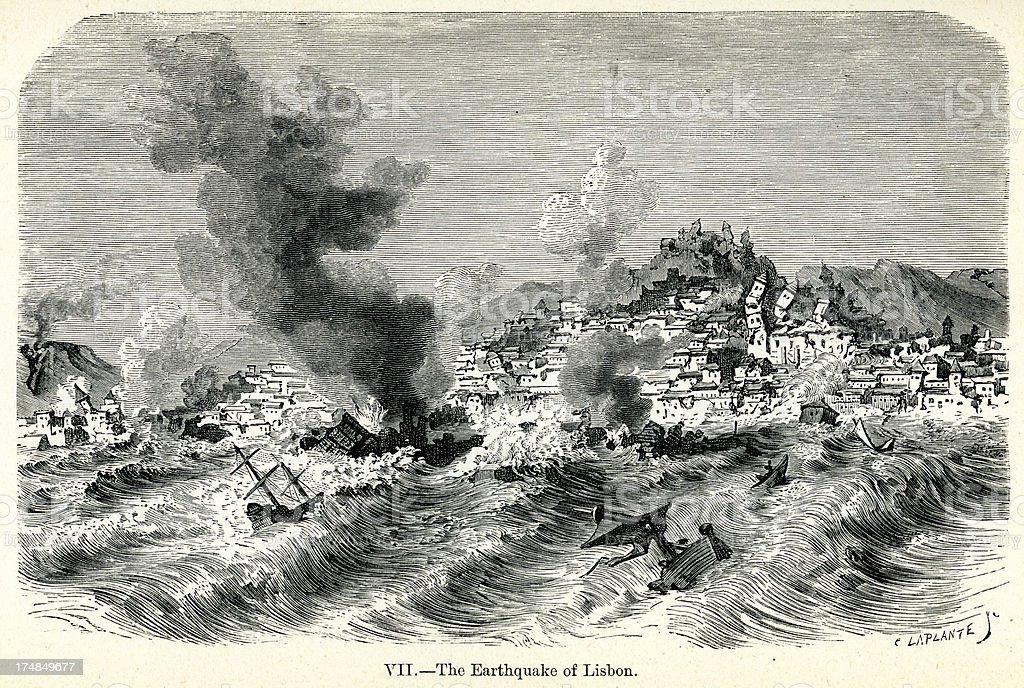 Lisbon earthquake of 1755 royalty-free lisbon earthquake of 1755 stock vector art & more images of 18th century