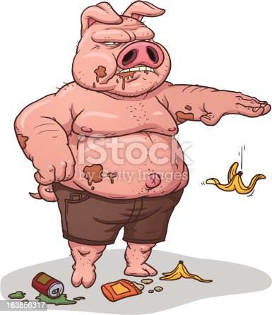 istock Littering pig 163856317