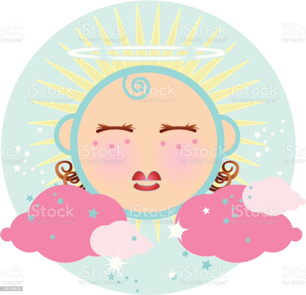 little angel vector art illustration