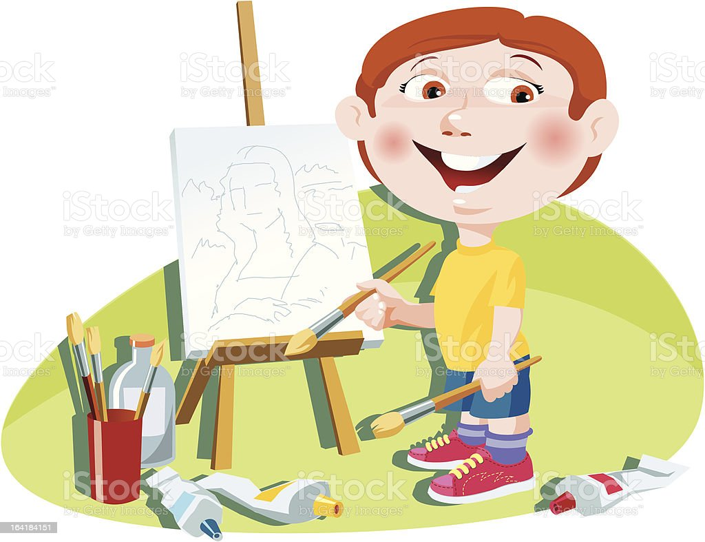 Little artist royalty-free little artist stock vector art & more images of acrylic painting