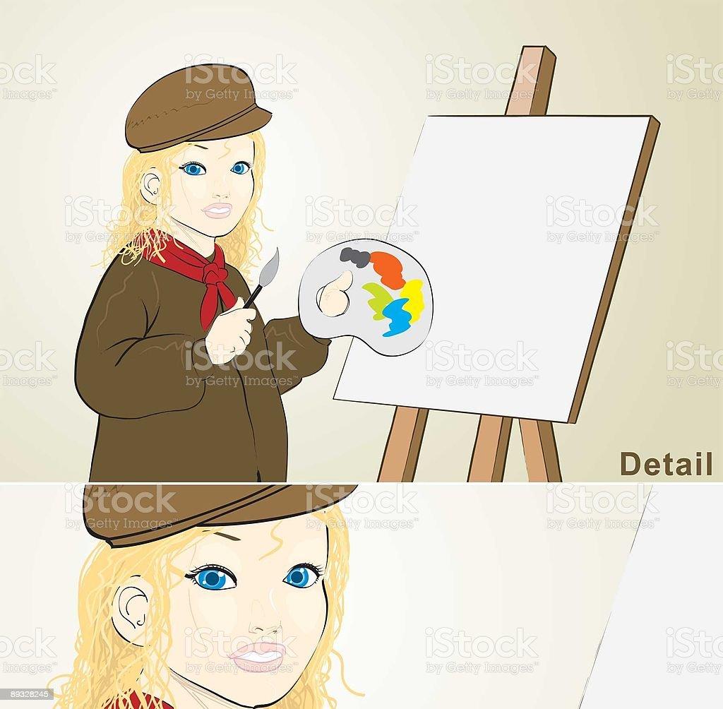 Little artist royalty-free stock vector art