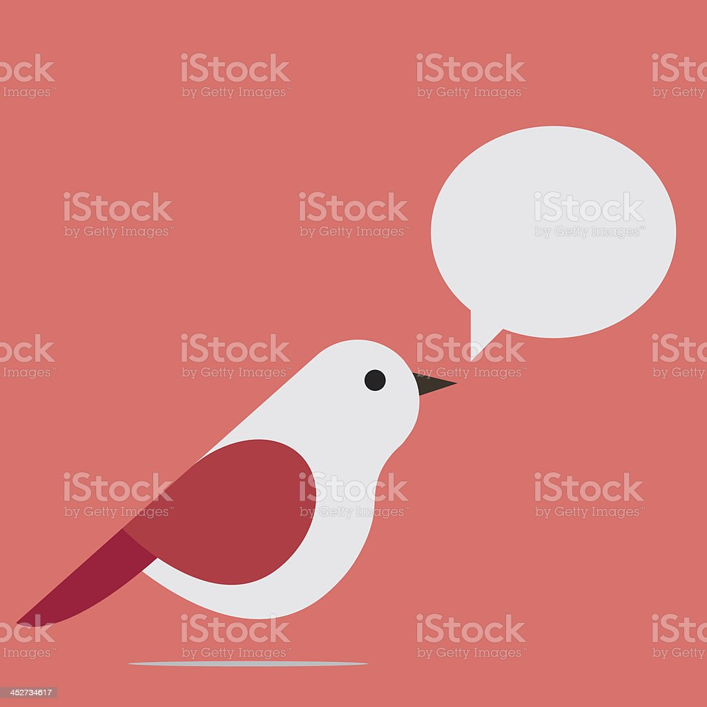 A little bird singing secrets to everyone royalty-free stock vector art