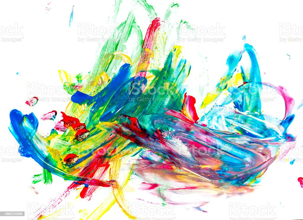 Little Boy Drawing vector art illustration