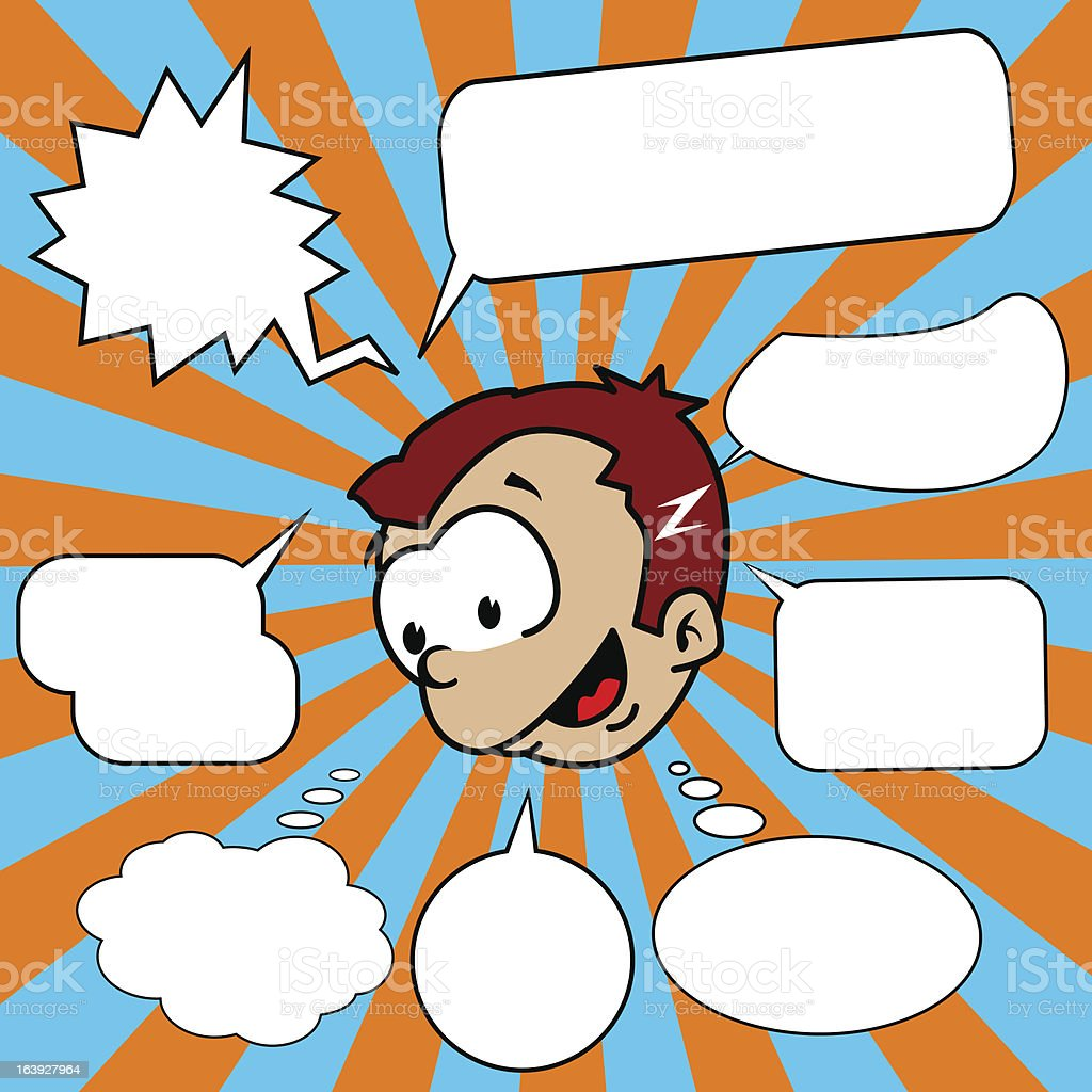 little boy with set of speech bubbles royalty-free little boy with set of speech bubbles stock vector art & more images of boys