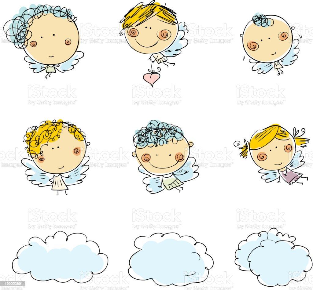 Little cupids - ilustración de arte vectorial