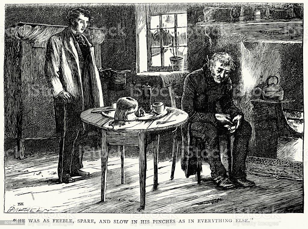 Little Dorrit by Charles Dickens vector art illustration