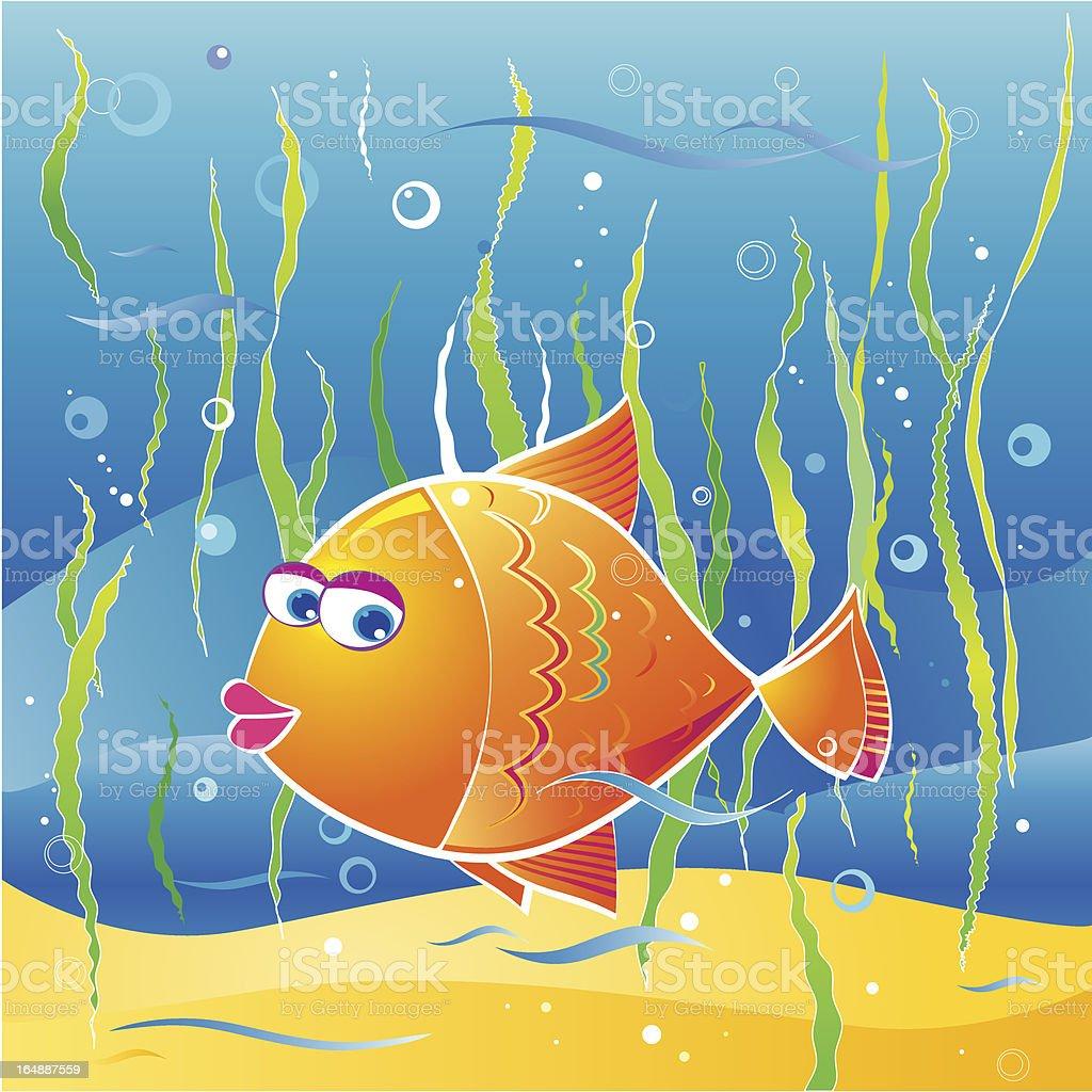 little fish vector art illustration