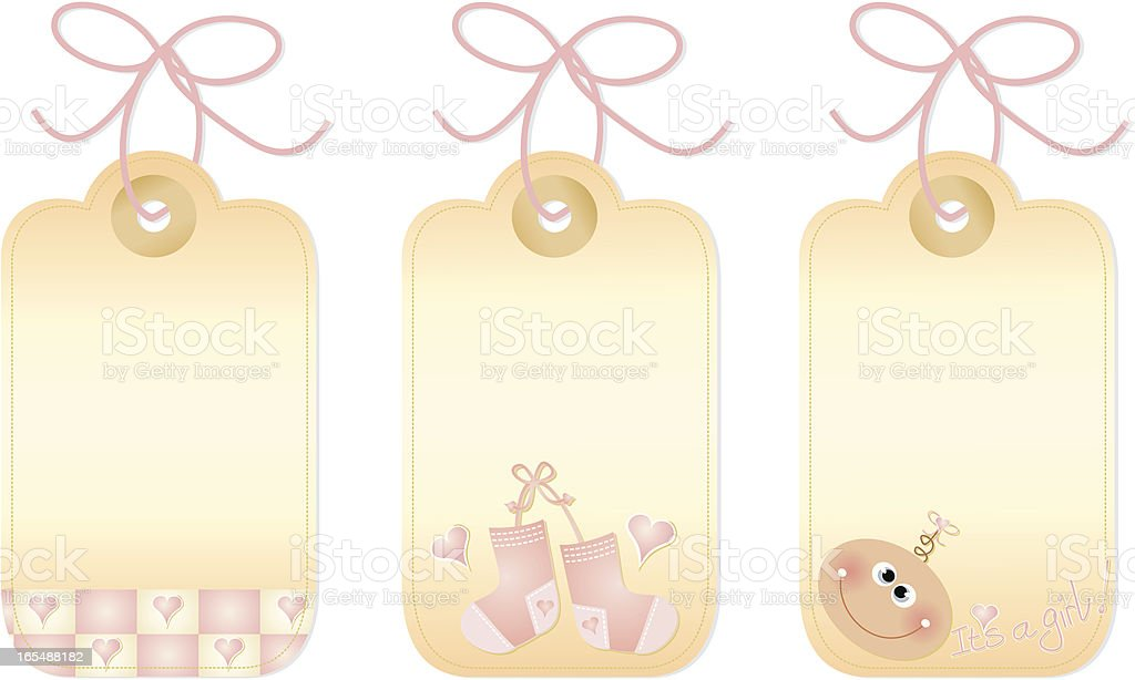 Little Girl Gift Tags royalty-free little girl gift tags stock vector art & more images of baby booties