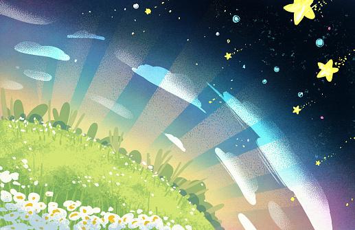 Little Hill Illustration Background