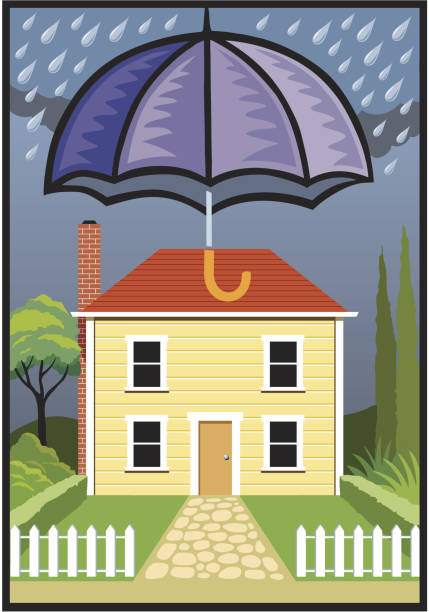 little house covered vector art illustration