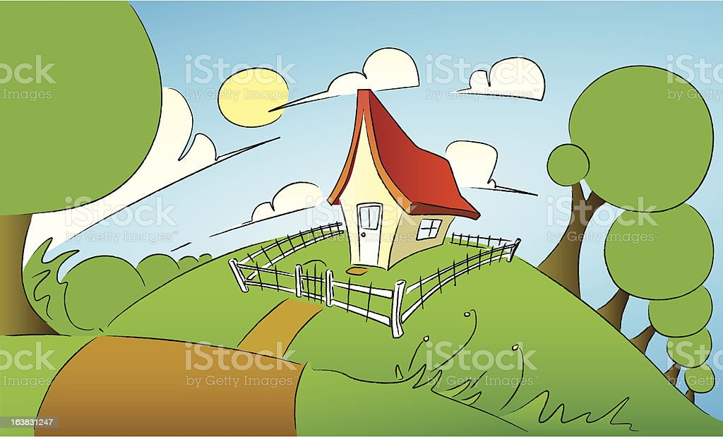 Little House royalty-free stock vector art