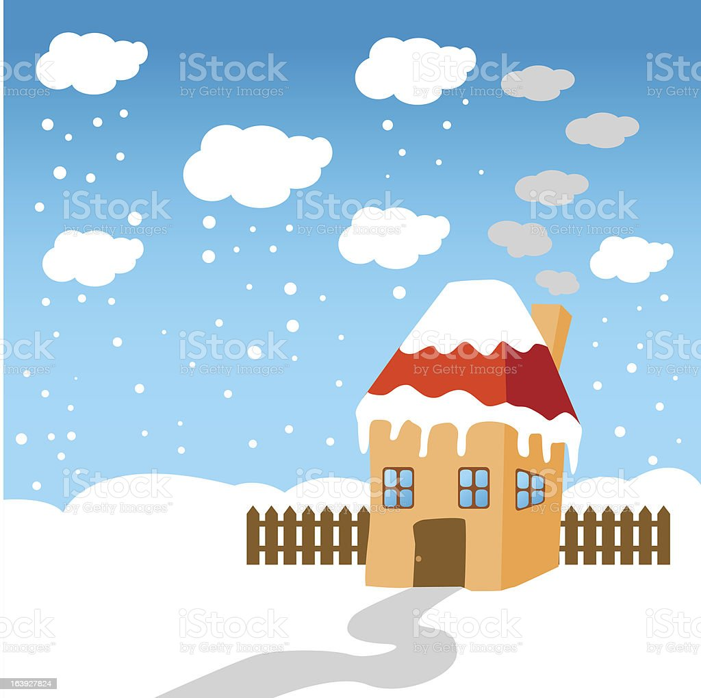 little house in the snow royalty-free little house in the snow stock vector art & more images of blue