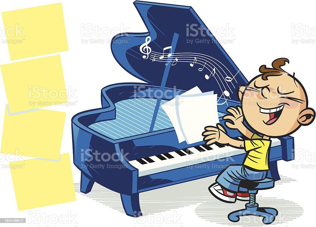 little musician royalty-free stock vector art
