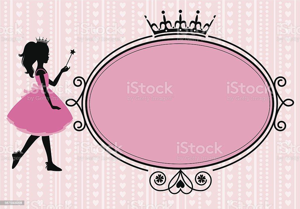 Little Princess Frame vector art illustration