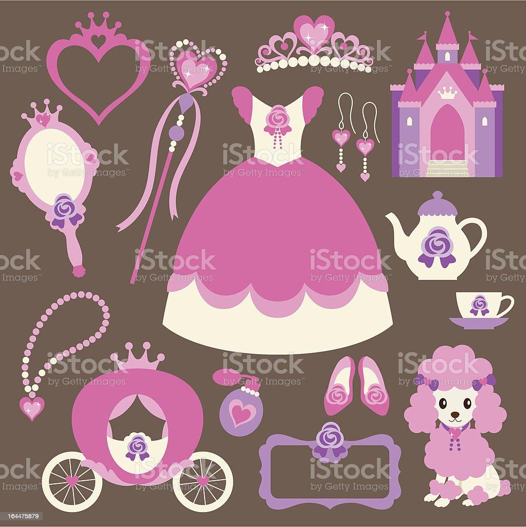 Little Princess Set royalty-free stock vector art