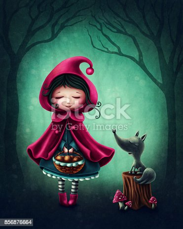 istock Little red riding hood 856876664