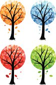 Abstract seasonally-colored trees.